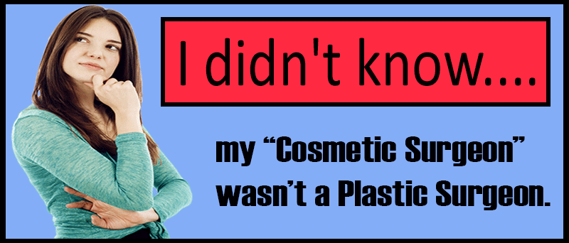 Cosmetic Vs Plastic surgeon